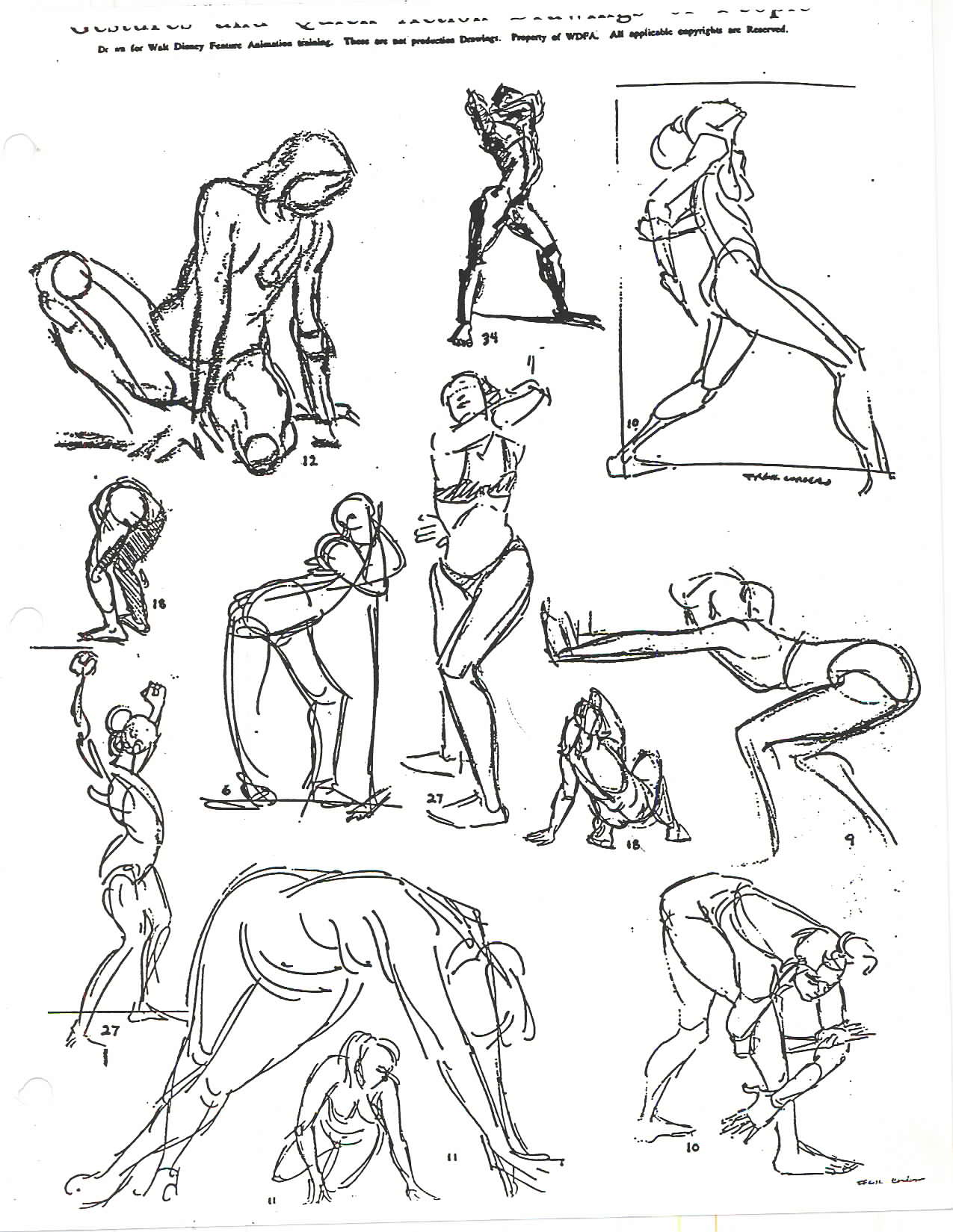 2d Character Design Pdf : Walt disney sample portfolio notes page g