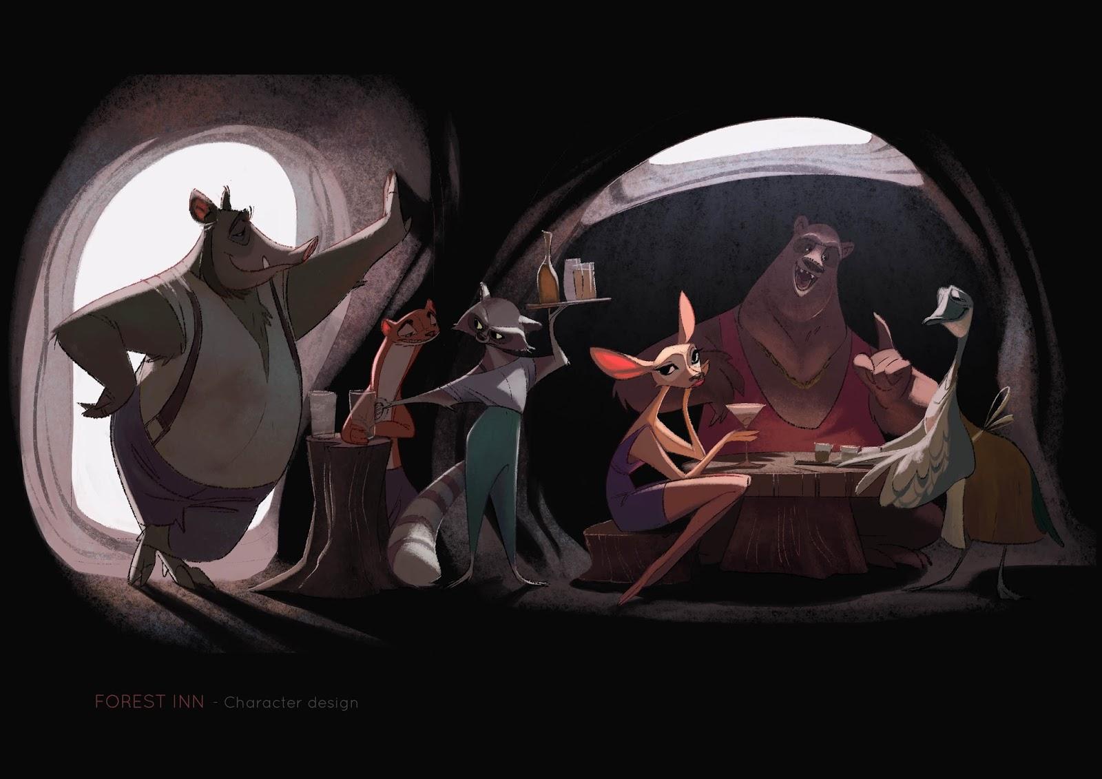 the art of c u00e9cile carre  u2013 on animation