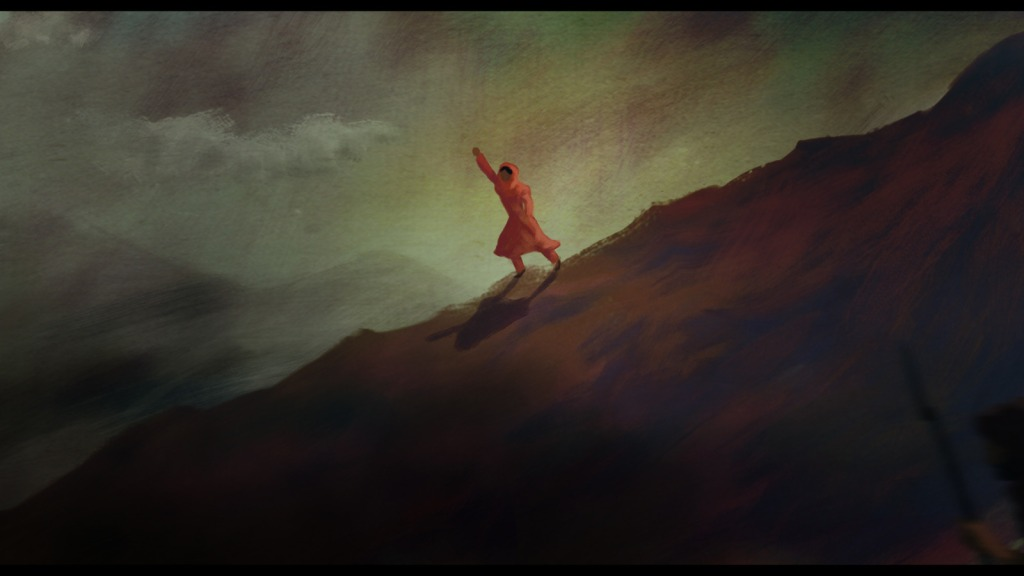 A still from one of the film's animated sequences.